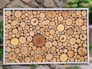 Панно – картина из спилов дерева.