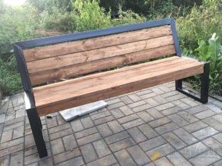 Скамейка в стиле «лофт»