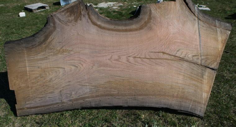 Cлэб МОРЕНОГО дуба (180cm × 88-62cm × 6cm)