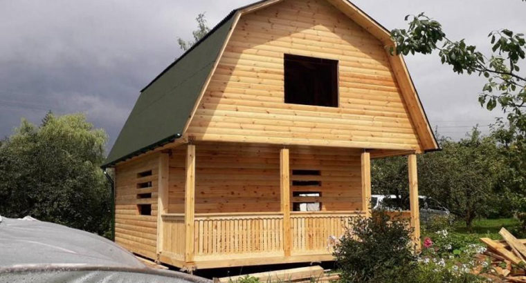 Дачный Дом сруб Борис из бруса 6×8 с установкой