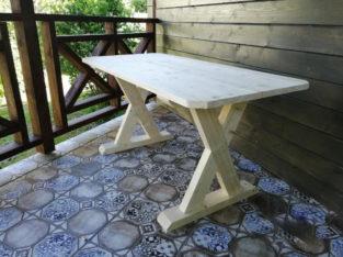 Стол из массива для дачи (бани)