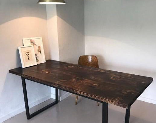 Стол из массива в стиле LOFT
