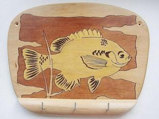 Вешалка ключница Рыба из дерева