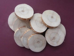 Заготовки для рукоделия – торцевые срезы древесины