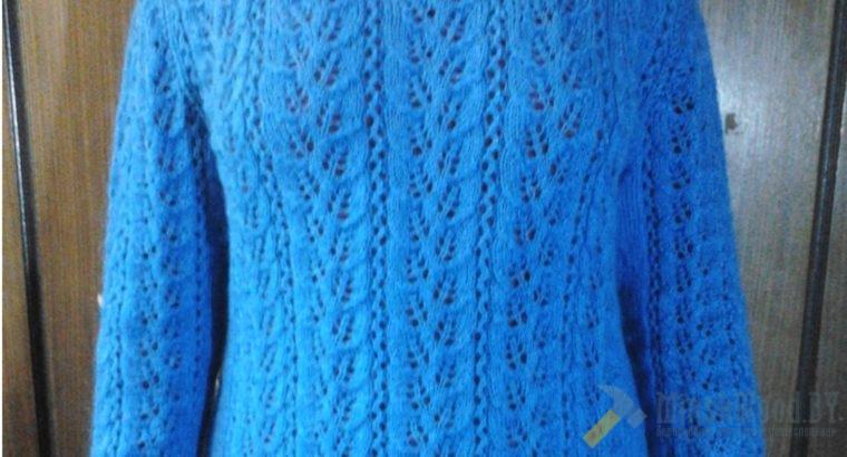 Пуловер ажурный мохеровый 50-54 р-р