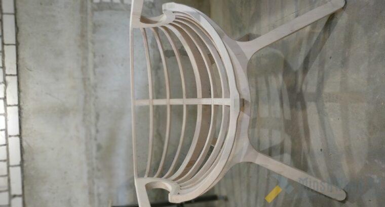 Кресло-ракушка под пуф