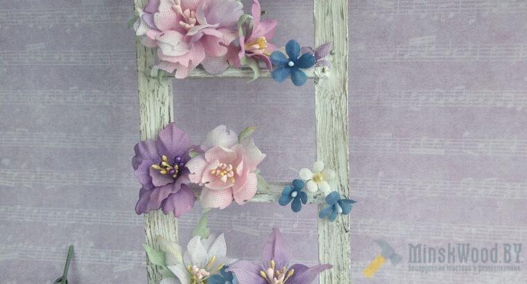 Цветы ручной работы из ткани
