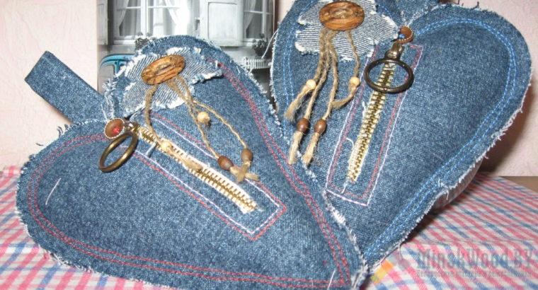Сердечки текстильные